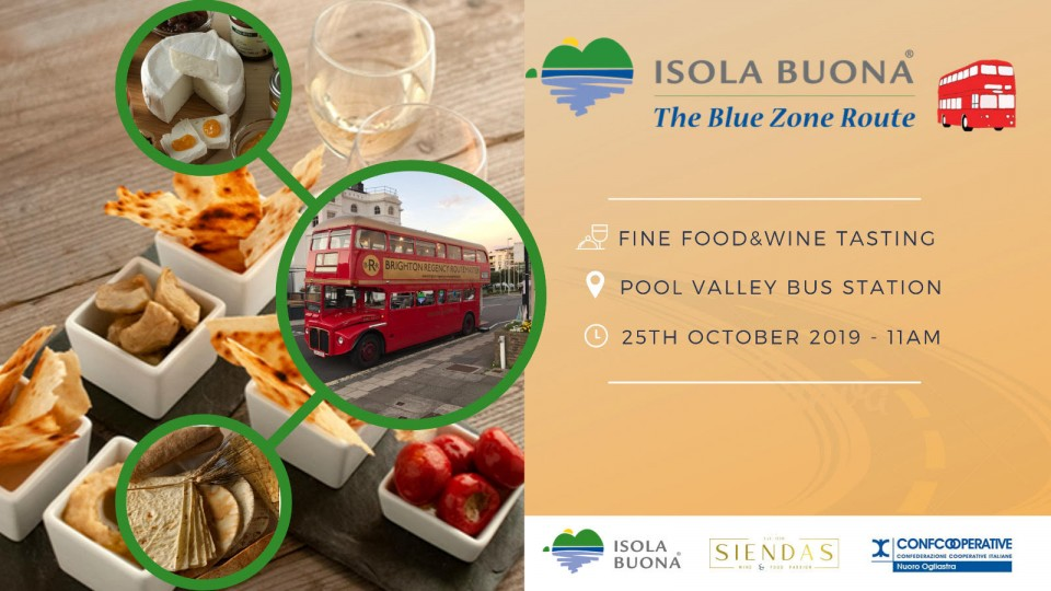 "Isola Buona launch ""The Blue Zone Route"" bus tour"