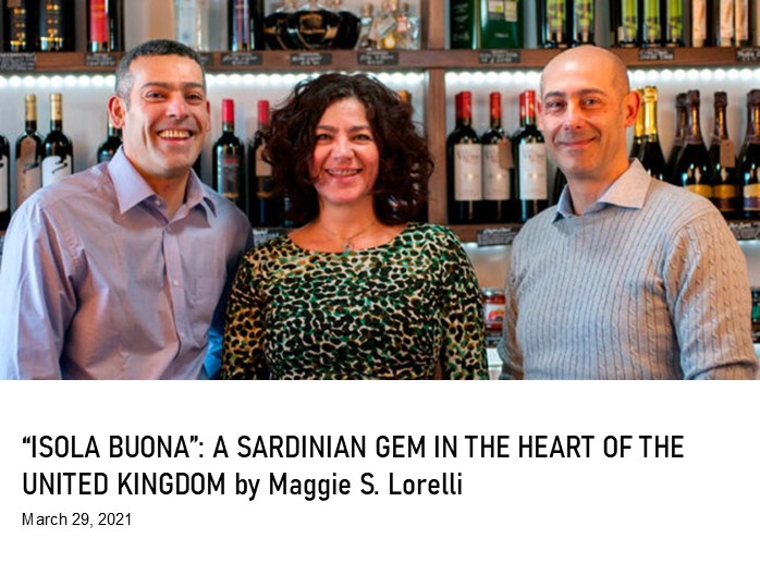 """Isola Buona"": a Sardinian gem in the heart of the United Kingdom"